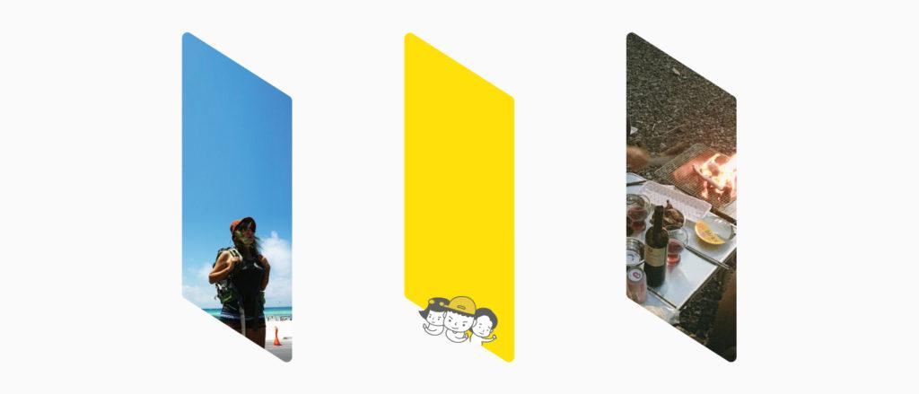 로그디노의 캐치프레이즈 '디지털 노마드 세계에 로그인하다'의 중요한 도형 역할을 한
